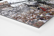 St. Pauli Fankurve als auf Alu-Dibond kaschierter Fotoabzug (Detail)