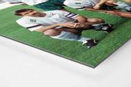 Bremen im Europapokalfinale als auf Alu-Dibond kaschierter Fotoabzug (Detail)