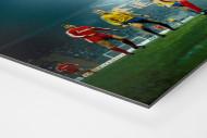 Europapokalabend unter Flutlicht als auf Alu-Dibond kaschierter Fotoabzug (Detail)