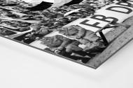 Fans und Volkspolizei als auf Alu-Dibond kaschierter Fotoabzug (Detail)