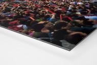 Fankurve im Giuseppe Meazza Stadion als auf Alu-Dibond kaschierter Fotoabzug (Detail)