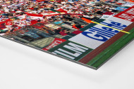 PSV vs. Benfica im Neckarstadion als auf Alu-Dibond kaschierter Fotoabzug (Detail)