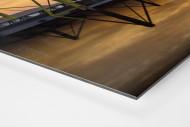 Signal Iduna Park bei Sonnenuntergang als auf Alu-Dibond kaschierter Fotoabzug (Detail)
