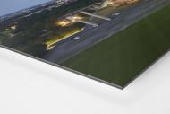 Olympiastadion und Berliner Skyline als auf Alu-Dibond kaschierter Fotoabzug (Detail)
