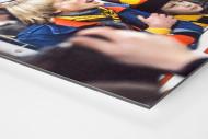 Junge BVB-Fans als auf Alu-Dibond kaschierter Fotoabzug (Detail)