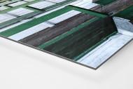 Tribüne Rudolf-Kalweit-Stadion (Farbe) als auf Alu-Dibond kaschierter Fotoabzug (Detail)