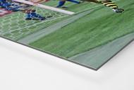 Riedle und Kohler jubeln als auf Alu-Dibond kaschierter Fotoabzug (Detail)