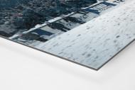 Schnee im Stadion am Uhlenkrug als auf Alu-Dibond kaschierter Fotoabzug (Detail)
