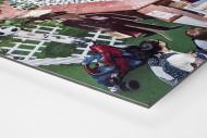 Fußbälle in Moskauer Mall als auf Alu-Dibond kaschierter Fotoabzug (Detail)
