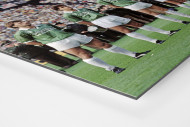 Bremen im Pokalfinale als auf Alu-Dibond kaschierter Fotoabzug (Detail)