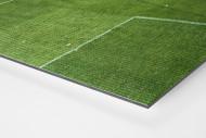 Spielfeldausschnitt Bökelberg als auf Alu-Dibond kaschierter Fotoabzug (Detail)