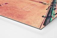 Tennis mit Aussicht als auf Alu-Dibond kaschierter Fotoabzug (Detail)
