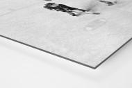 Eishockeynachwuchs in den Siebzigern als auf Alu-Dibond kaschierter Fotoabzug (Detail)