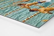 Rückwärts ins Wasser als auf Alu-Dibond kaschierter Fotoabzug (Detail)