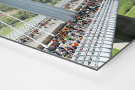 Marathon über die Brücke als auf Alu-Dibond kaschierter Fotoabzug (Detail)