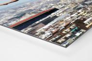 Turmspringen mit Blick auf Barcelona als auf Alu-Dibond kaschierter Fotoabzug (Detail)