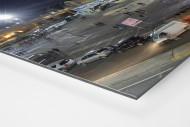 Stadio San Paolo bei Flutlicht (Panorama) als auf Alu-Dibond kaschierter Fotoabzug (Detail)