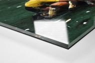 Aachener Torjubel als Direktdruck auf Alu-Dibond hinter Acrylglas (Detail)