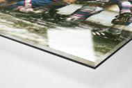 Cottbus jubelt im Pokal (2) als Direktdruck auf Alu-Dibond hinter Acrylglas (Detail)