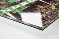 Bremen Fans 1999 als Direktdruck auf Alu-Dibond hinter Acrylglas (Detail)