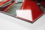 Fassungsloser Tifoso als Direktdruck auf Alu-Dibond hinter Acrylglas (Detail)