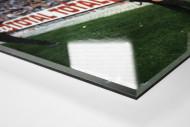 Polizist und dänische Fans als Direktdruck auf Alu-Dibond hinter Acrylglas (Detail)