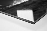 Borussia Park bei Flutlicht (schwarz/weiß) als Direktdruck auf Alu-Dibond hinter Acrylglas (Detail)