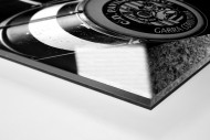 Drums als Direktdruck auf Alu-Dibond hinter Acrylglas (Detail)