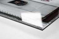 Oldschool Scoreboard als Direktdruck auf Alu-Dibond hinter Acrylglas (Detail)