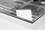 Ponte Preta Fan Arriving At The Stadium als Direktdruck auf Alu-Dibond hinter Acrylglas (Detail)