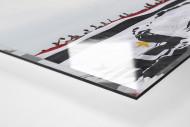 Big Flag And Fans als Direktdruck auf Alu-Dibond hinter Acrylglas (Detail)