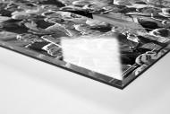 Dresdens Meister 1990 als Direktdruck auf Alu-Dibond hinter Acrylglas (Detail)