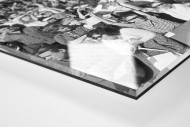 Köln Fans 1964 als Direktdruck auf Alu-Dibond hinter Acrylglas (Detail)