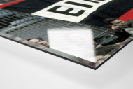 Frankfurt Fans 1980 als Direktdruck auf Alu-Dibond hinter Acrylglas (Detail)