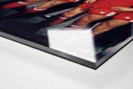Frankfurter Europapokaljubel als Direktdruck auf Alu-Dibond hinter Acrylglas (Detail)