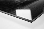 Stadion am Böllenfalltor bei Flutlicht (s/w) als Direktdruck auf Alu-Dibond hinter Acrylglas (Detail)