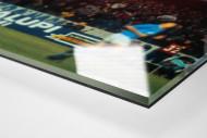 Napoli Fans als Direktdruck auf Alu-Dibond hinter Acrylglas (Detail)