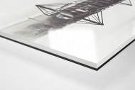 Es spiegelt sich der Signal Iduna Park als Direktdruck auf Alu-Dibond hinter Acrylglas (Detail)