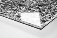 Barca Fans in Basel (1) als Direktdruck auf Alu-Dibond hinter Acrylglas (Detail)