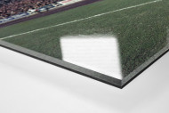 Tribüne Stadion am Uhlenkrug als Direktdruck auf Alu-Dibond hinter Acrylglas (Detail)