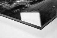 Stadio San Paolo bei Flutlicht (SW) als Direktdruck auf Alu-Dibond hinter Acrylglas (Detail)