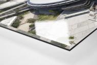Maracana und Skyline Rio als Direktdruck auf Alu-Dibond hinter Acrylglas (Detail)