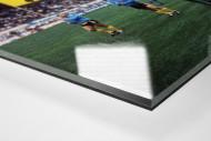 BVB dankt Fans als Direktdruck auf Alu-Dibond hinter Acrylglas (Detail)
