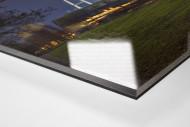 Weserstadion bei Flutlicht (Farbe-Querformat-1) als Direktdruck auf Alu-Dibond hinter Acrylglas (Detail)