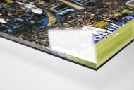 Boca Juniors Fankurve als Direktdruck auf Alu-Dibond hinter Acrylglas (Detail)