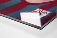 Helmut Haller als Direktdruck auf Alu-Dibond hinter Acrylglas (Detail)