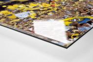 BVB Fans in Berlin als Direktdruck auf Alu-Dibond hinter Acrylglas (Detail)