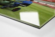 Greenkeeper im Volksparkstadion 1997 als Direktdruck auf Alu-Dibond hinter Acrylglas (Detail)