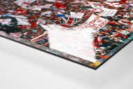 Nottingham Fans als Direktdruck auf Alu-Dibond hinter Acrylglas (Detail)
