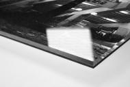 Ruhrstadion bei Flutlicht (SW) als Direktdruck auf Alu-Dibond hinter Acrylglas (Detail)
